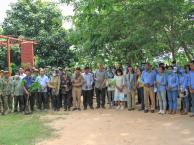 A planting event in Sok An Phnom Kulen Orchid Research and Conservation Center
