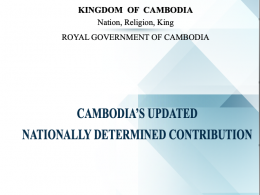 PRESS RELEASE: Cambodia's Updated NDC under the UNFCCC