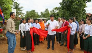 Inauguration of rural climate proofed road, Jul 2018, Tbong Khmum Province